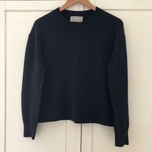 Everlane Cotton Crew Sweater, Navy